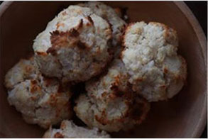 coconut macaroons in a bowl