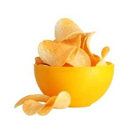 a bowl of potato chips