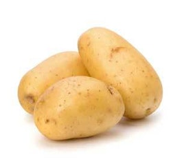 three white potatoes