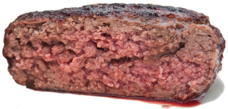 animal protein hamburger